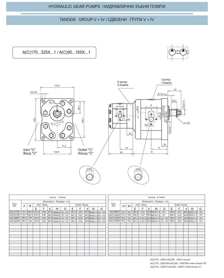 Сдвоени - строени хидравлични помпи - схема 18