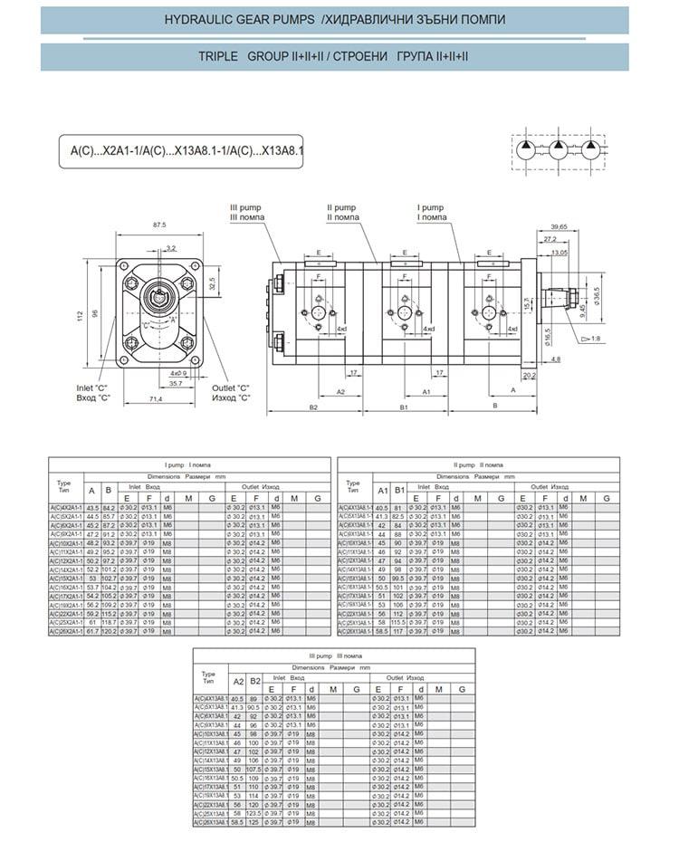Сдвоени - строени хидравлични помпи - схема 20